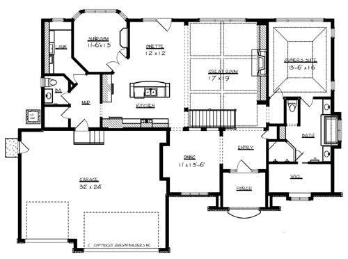 Cottage House Plan with 1 Bedroom and 1.5 Baths - Plan 7049 on 2300 sq ft house plans, 400 sq ft house plans, 5000 sq ft house plans, 1800 sq ft. house plans, ranch house plans, 4 bedroom house plans, 2200 sq ft house plans, 2900 sq ft house plans, 900 sq ft house plans, 3000 sq ft house plans, 1200 sq ft house plans, 1500 sq ft house plans, 2000 ft open house plans, 2100 sq ft house plans, 1400 sq ft house plans, 4000 sq ft house plans, 20000 sq ft house plans, 1000 sq ft house plans, 2500 sq ft house plans, 2400 sq ft house plans,